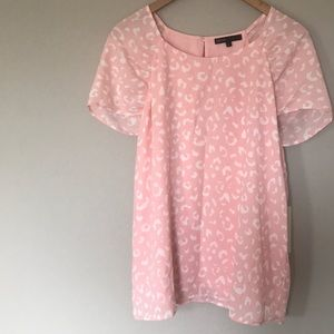 Gibson pink leopard print blouse